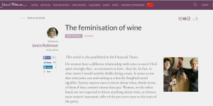 Jancis Robinson MW on women and wine